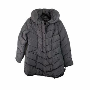 New Steve Madden Gray quilted coat M